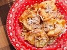 Рецепта Печени ябълки с орехи и канела